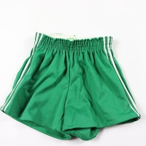 70s New Pele Brand Youth Large Soccer Shorts Green